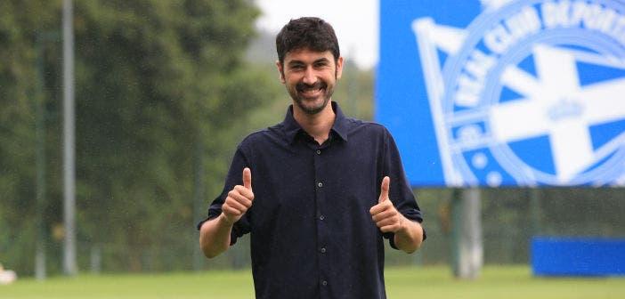 Miguel Llorente se presentó como técnico del Dépor Abanca
