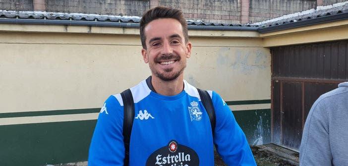 Rafa de Vicente en zona mixta tras el Racing Villalbés vs Deportivo