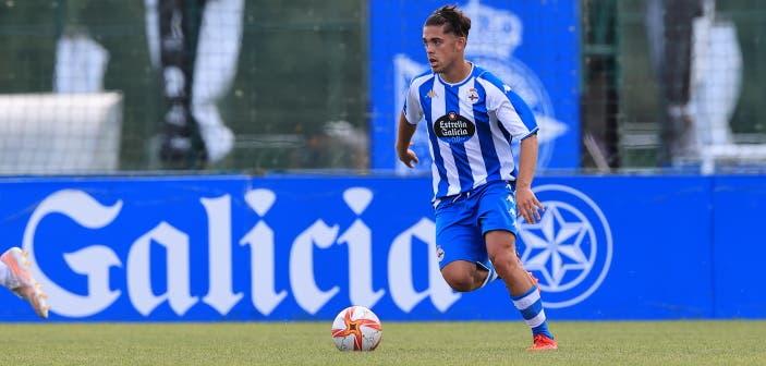 Víctor Guerra, goleador para el Fabril contra el Atlético Arteixo