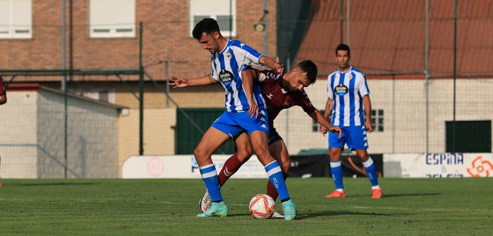 Quiles en el Deportivo vs Pontevedra