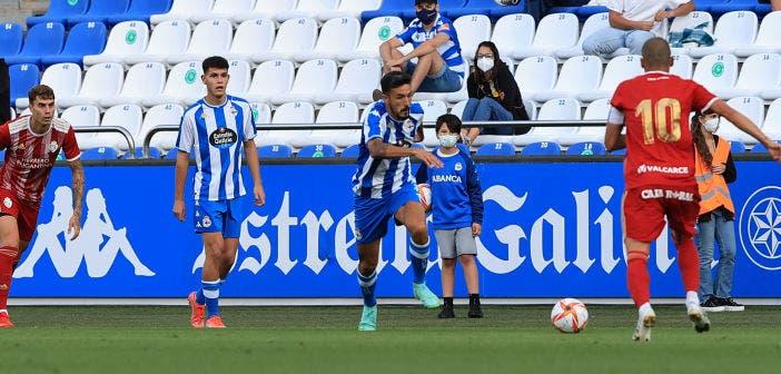 Quiles, en el Deportivo vs Ponferradina