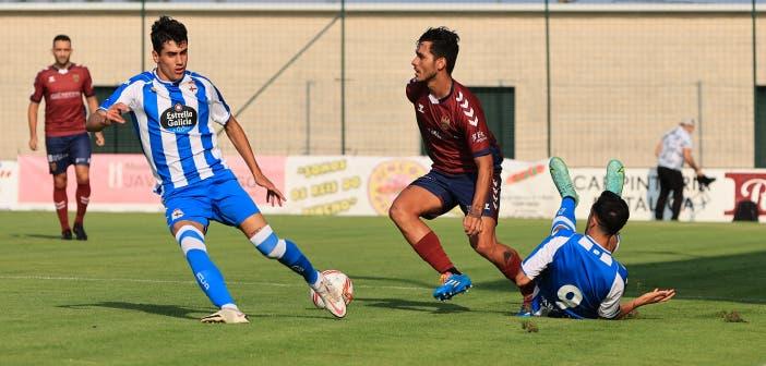 Villares en el amistoso contra el Pontevedra