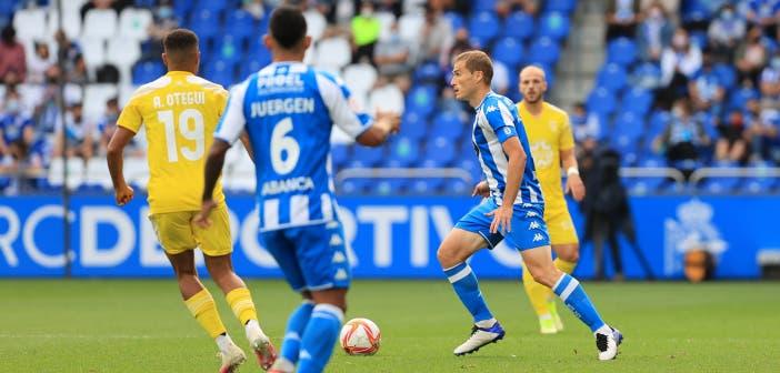 Álex Bergantiños en un partido con el Deportivo