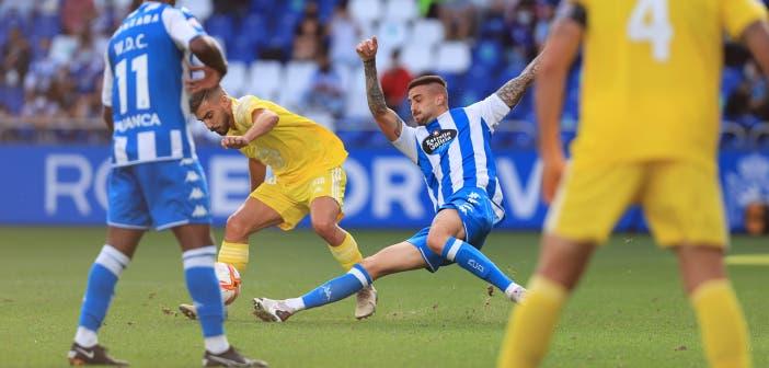 Borja Granero en un partido con el Deportivo