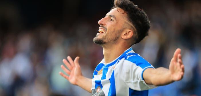 La pizarra del Deportivo 1-0 Badajoz