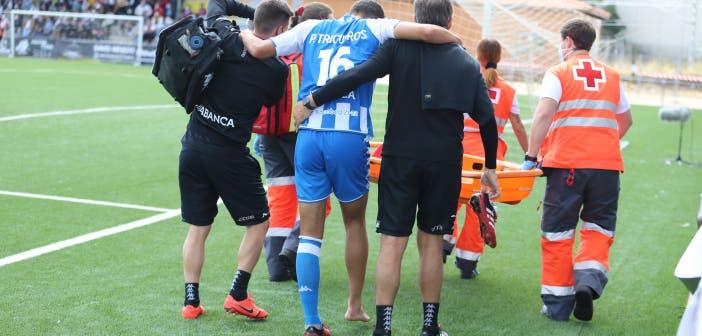 Trigueros se lesionó en el Unionistas vs Deportivo