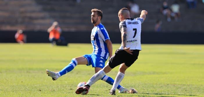 Alberto Benito en el Tudelano vs Deportivo