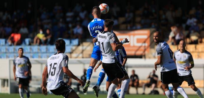Gol de Lapeña en el Tudelano vs Deportivo crónica
