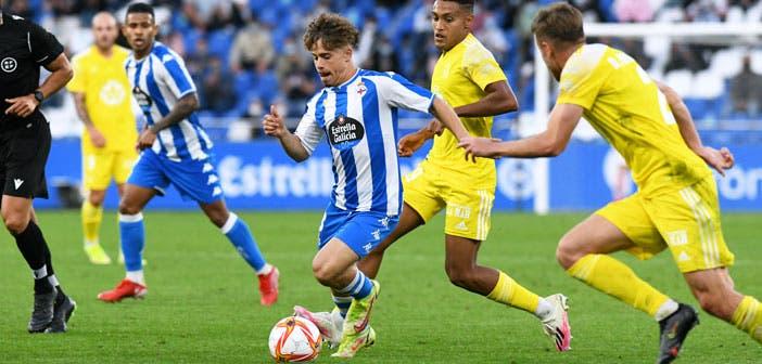 Soriano en un partido con el Deportivo