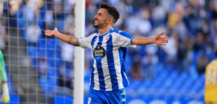 Quiles marcó en el Deportivo vs Badajoz