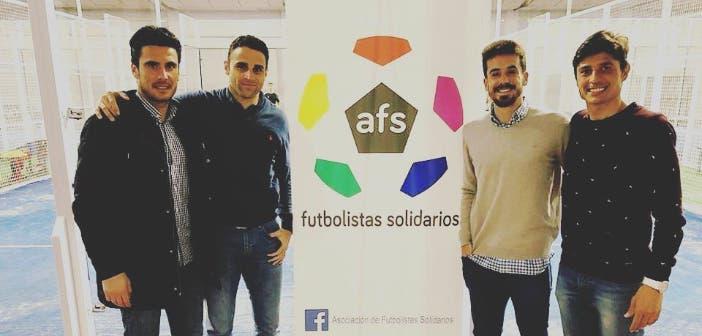 Rafa de Vicente con la Asociación de Futbolistas Solidarios